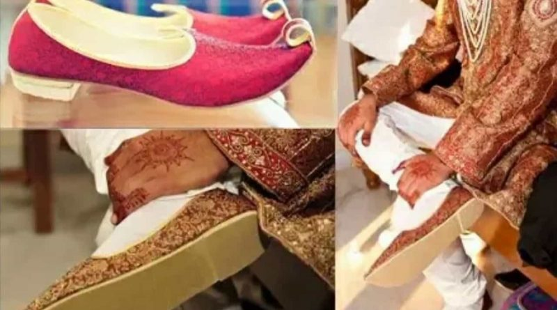 This is why the ceremony of printing a shoe in marriage