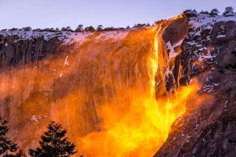 Fire flows instead of water in this river of America