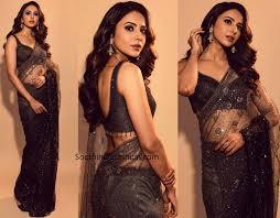 Rakul Preet Singh looks gorgeous in a black sari, see photos