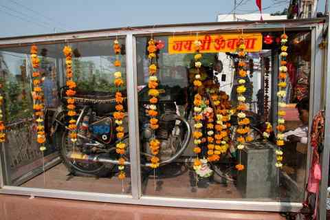 Learn how to worship bullet motorcycles in this temple of Rajasthan