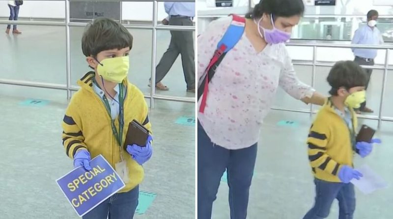The 5-year-old child arrived alone from Delhi to Bengaluru when the flight started, met her mother after 3 months