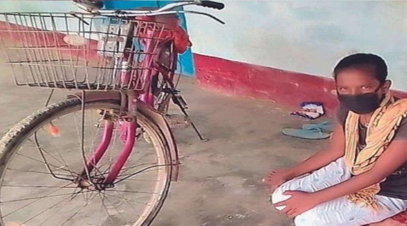 Postage stamp released in honor of Jyoti, who brought her father on a bicycle and brought him to Bihar