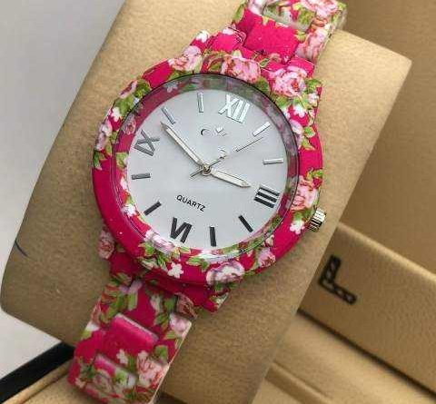 This beautiful floral print watch in summer season