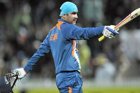 When Sehwag hit 17 runs off 1 ball, after being beaten, the Pakistani bowler knew about him.