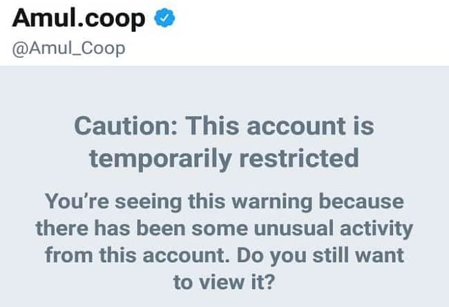 Twitter from China also got nervous, Twitter blocked Amul