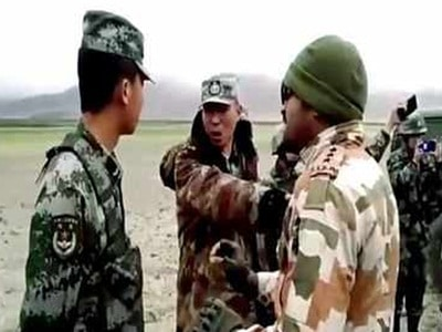 Indian soldiers beaten to 5 Chinese soldiers